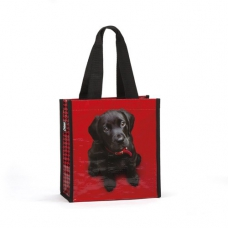 Black Lab on Red Carry Bag